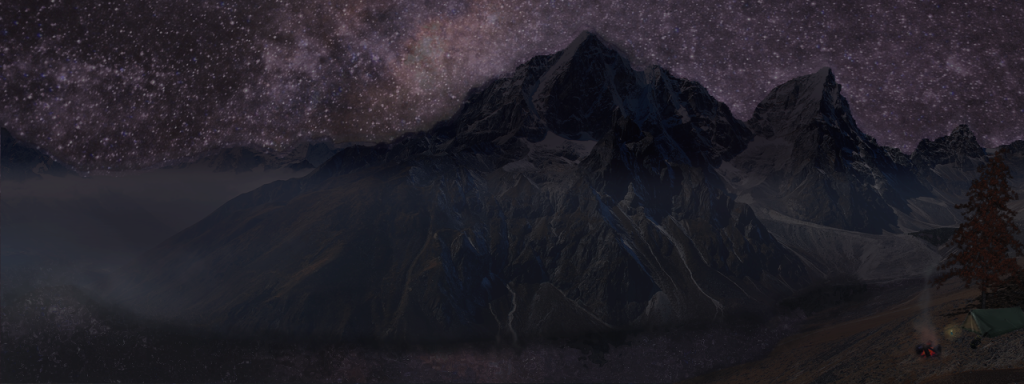 Matte Painting - Starry Mountain Camp