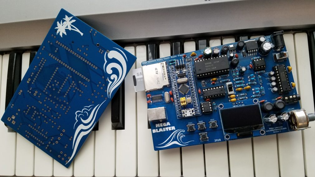 MegaBlaster Hardware Sega Genesis Video Game Music Player